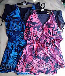 Женский купальник-платье на очень большие размеры без поролона