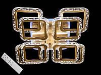 Светодиодная люстра с пультом диммером и цветной подсветкой бронза 2517-4+4XS