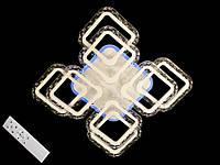 Светодиодная люстра с пультом диммером и цветной подсветкой белая  2517-4+4XS, фото 1