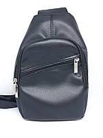 Мужская сумка черная барсетка через плечо