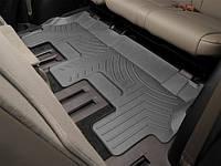 Ковры резиновые WeatherTech Toyota Sequoia 2008+ третий ряд черные ( для авто 2-й ряд с цельным сиденьем )