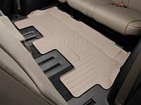 Ковры резиновые WeatherTech Toyota Sequoia 2008+ третий ряд бежевый ( для авто 2-й ряд с цельным сиденьем )