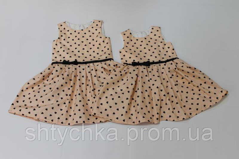 Платье на девочку в сердечки № 106