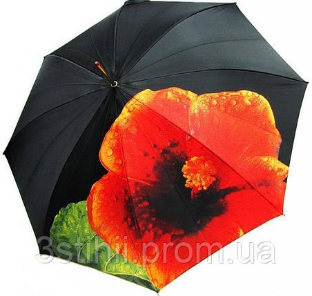 Зонт-трость Doppler 12021-Hibiskus полуавтомат Гибискус, фото 2