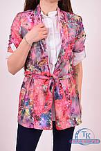 Комплект женский (цв.розовый) рубашка+пиджак с поясом ELTI 6231 Размер:42