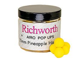 Бойлы плавающие Richworth Airo Pop-Up Pineapple Hawaiian 15мм, 200мл