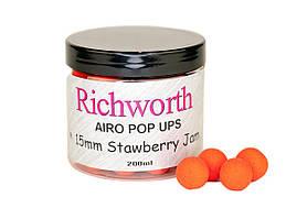 Бойлы плавающие Richworth Airo Pop-Up Strawberry Jam 15мм, 200мл