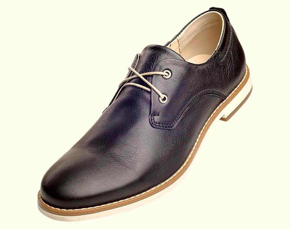 Туфли мужские классические черные из турецкой кожи на шнурках KONORS 625-7-1 скидка