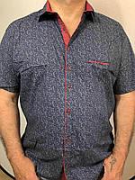 """Рубашка мужская батал короткий рукав, р-ры 3XL-6XL (4цв.)""""EMRE"""" купить недорого от прямого поставщика, фото 1"""