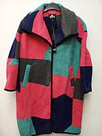 Стильное женское шерстяное пальто oversize от датского бренда ONLY.
