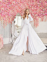 Жіноча Довга Шовкова СУКНЯ на Весілля, Фотосесію, Випуск, для подружок нареченої, фото 1