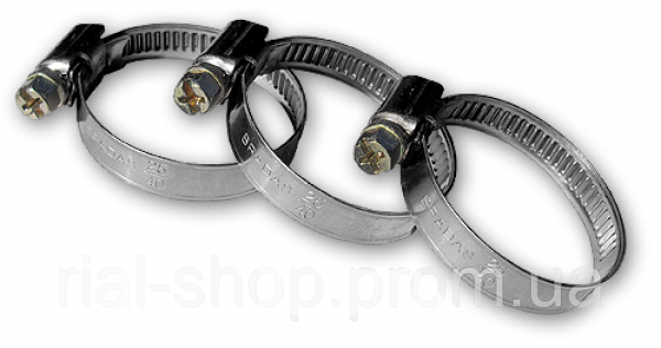 Хомут червячный нержавеющий RIO VERDE W2 12-22мм, RVW2 12-22/9