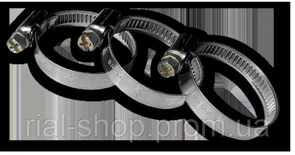 Хомут червячный нержавеющий RVW1 12-22мм, RVW1 12-22/9