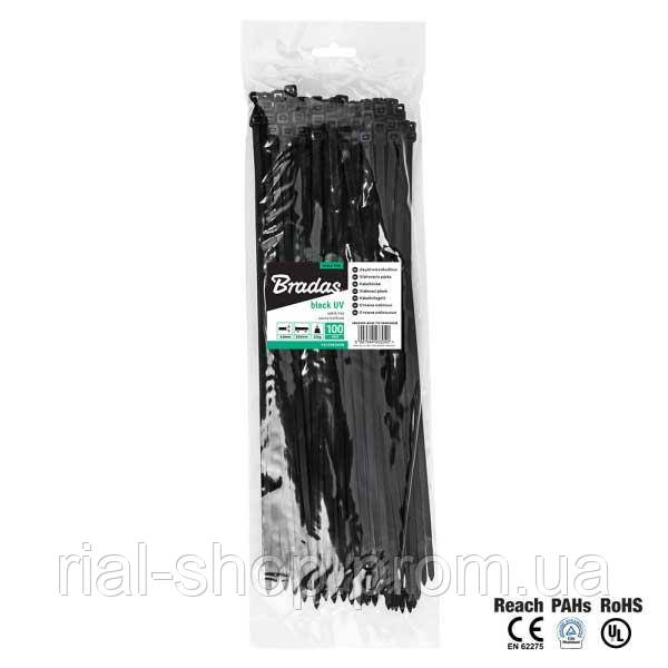 Кабельная стяжка, пластиковая, 3,6 х 150 мм, UVBlack, TS1036150B