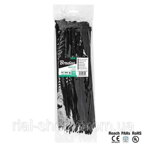 Кабельная стяжка, пластиковая, 4,8 х 300 мм, UVBlack, TS1048300B