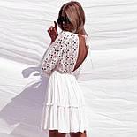 Женский сарафан хлопок белый с кружевом, фото 4
