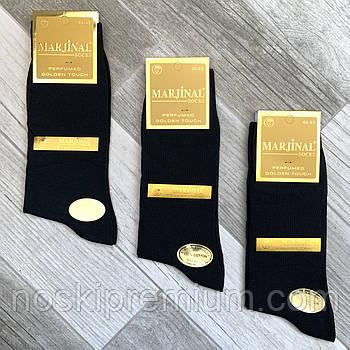 Носки мужские 100% шёлковый хлопок Marjinal, Турция, ароматизированные, без шва, чёрные, 777