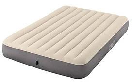Матрас надувной двухместный Intex 64103 152x203x25см, серый