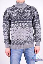 Кофта мужская (цв.серый) из натуральной шерсти BELLA WELL 137 Размер:50
