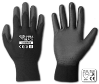 Перчатки защитные PURE BLACK полиуретан, размер 10, RWPBC10
