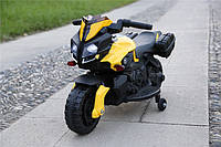Детский электромотоцикл T-7218 EVA колёса желтый