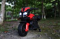 Детский электромотоцикл T-7218 EVA колёса красный