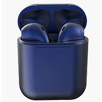Наушники беспроводные тёмно-синие i12 TWS AirPod 5.0 Bluetooth