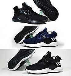 Мужские кроссовки черные Adidas Alphabounce - 3 Цвета!