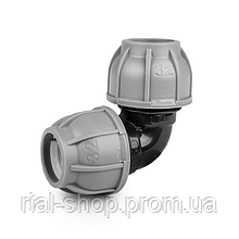 Колено для труб PE, 32 мм, PN10, DSRA10K3232