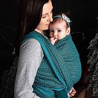 Слинг-шарф LUNA DREAM Little Hearts Turquoise (4,6 м), фото 1