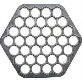 Пельменница форма алюминиевая 37 отверстий 25 х 3 х 1,7 см