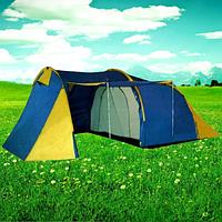 Палатка туристическая кемпинговая с тамбуром 4х местная двухслойная 1710