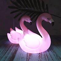 Ночник детский Светильник сенсорный силикон Пингвин Фламинго