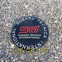 3D наклейка для дисків Subaru STI. 65мм ( Субару )