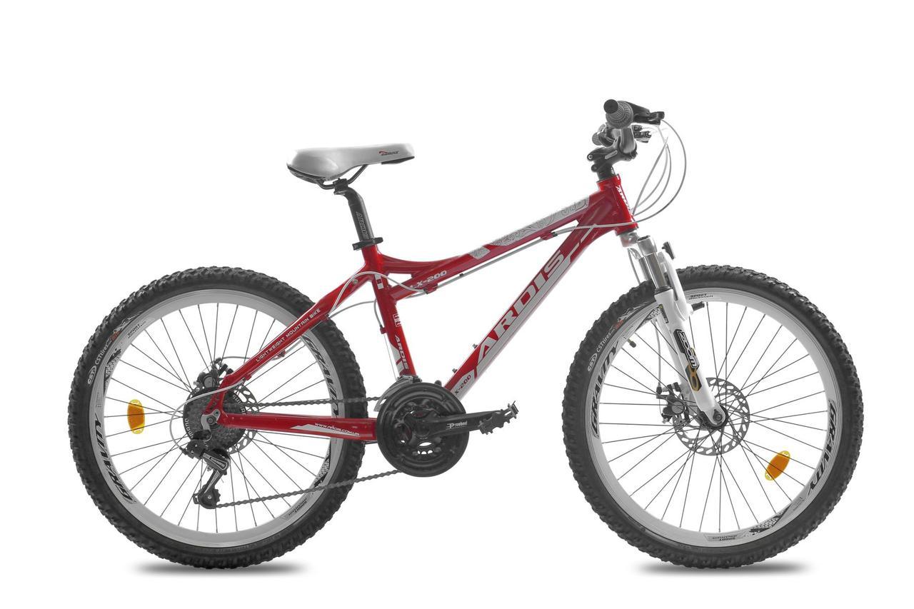 """Подростковый велосипед  ARDIS """"LX-200  EGO"""" 24"""" алюминиевый с дисковыми тормозами, Красный"""