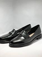 Molka. Жіночі туфлі-лофери.Чорні з натуральної шкіри Розмір 38.40 Магазин Vellena, фото 7