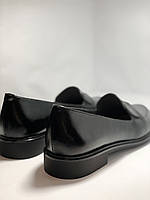 Molka. Жіночі туфлі-лофери.Чорні з натуральної шкіри Розмір 38.40 Магазин Vellena, фото 9