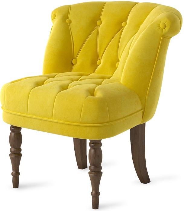 Кресло Бенита желтое (велюр) Shik