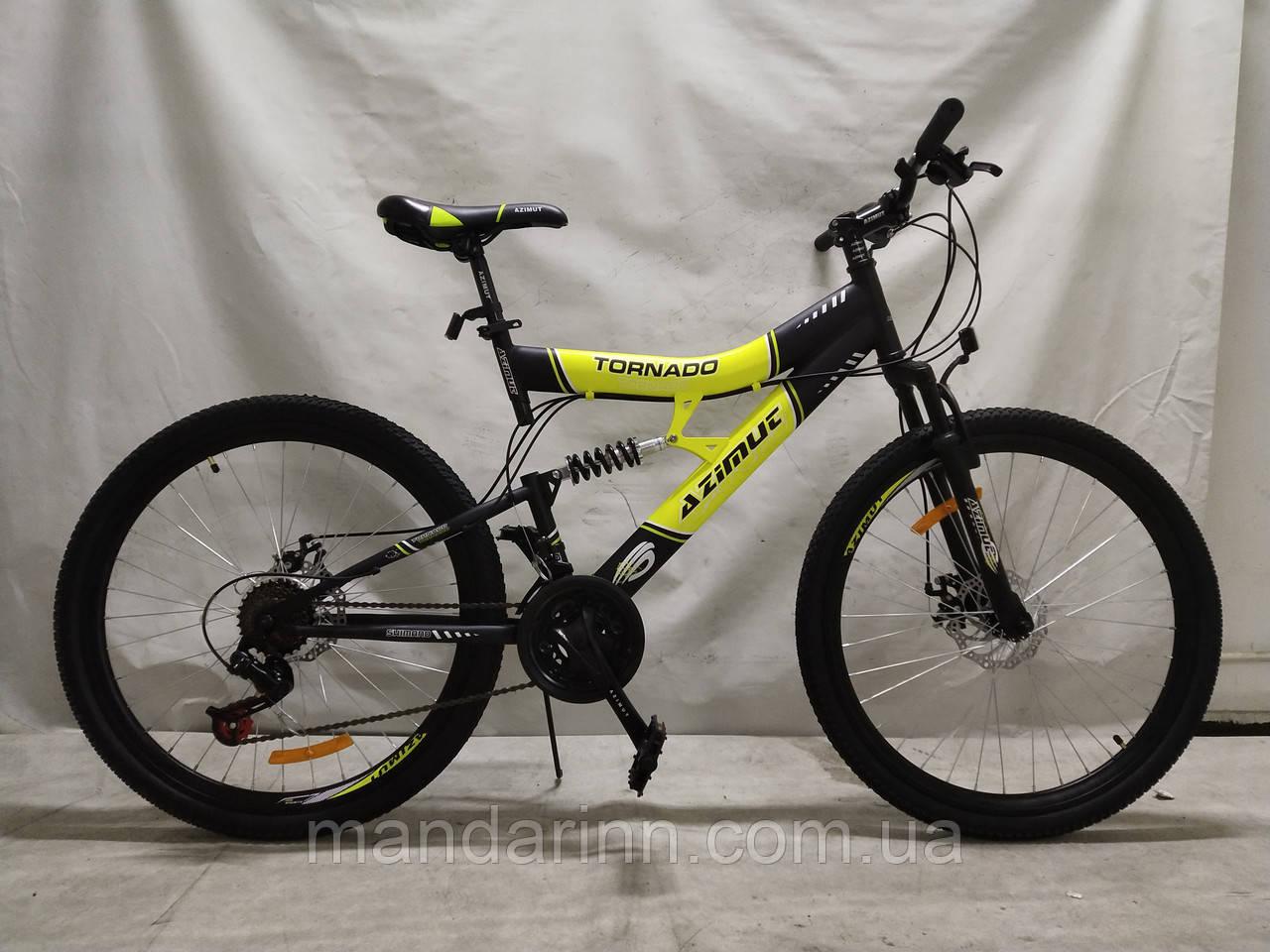 Гірський велосипед Azimut Tornado 24 дюйма. Дискові гальма. SHIMANO.