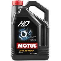 Масло трансмиссионное минеральное MOTUL HD SAE 80W90 5л. 100105/317506