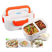 Ланч-бокс с подогревом The Electric Lunch Box / Лоток для подогрева еды ОРАНЖЕВЫЙ