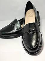 Molka. Жіночі туфлі-лофери.Чорні з натуральної шкіри Розмір 38.40 Магазин Vellena, фото 6