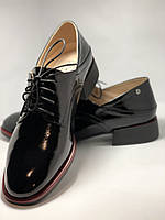 Стильные женские туфли.Оксфорды.Натуральная лакированная кожа.Невысокий каблук.  35. 37.39, фото 7