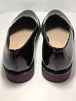 Стильные женские туфли.Оксфорды.Натуральная лакированная кожа.Невысокий каблук.  35. 37.39, фото 8