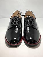 Стильные женские туфли.Оксфорды.Натуральная лакированная кожа.Невысокий каблук.  35. 37.39, фото 10