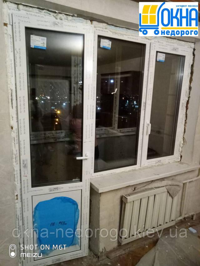 Балконный блок Рехау Киев бул. Перова 48