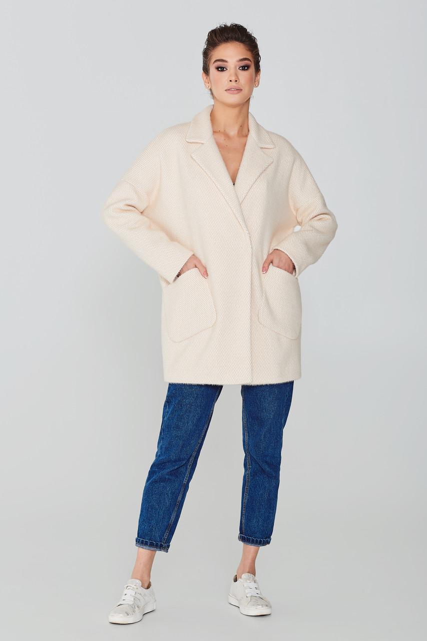 Стильное женское оверсайз пальто из ворсовой ткани  Elvi Д-765