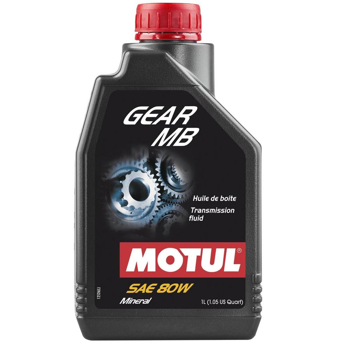 Масло трансмісійне мінеральне MOTUL Gear MB SAE 80 1л. 105780/807501