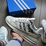 Стильные кроссовки Adidas ZX 500 RM, 'White Camo', фото 2