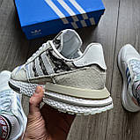 Стильні кросівки Adidas ZX 500 RM, 'White Camo', фото 3